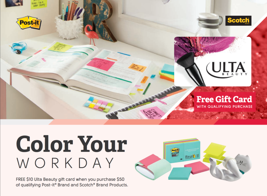 Ulta Beauty – Free Gift Card with Post-It Purchase | Access Office ...